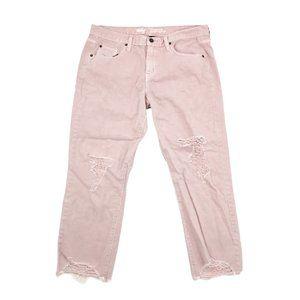 Mossimo Jeans Women's 12 31x25 Pink Boyfriend Crop